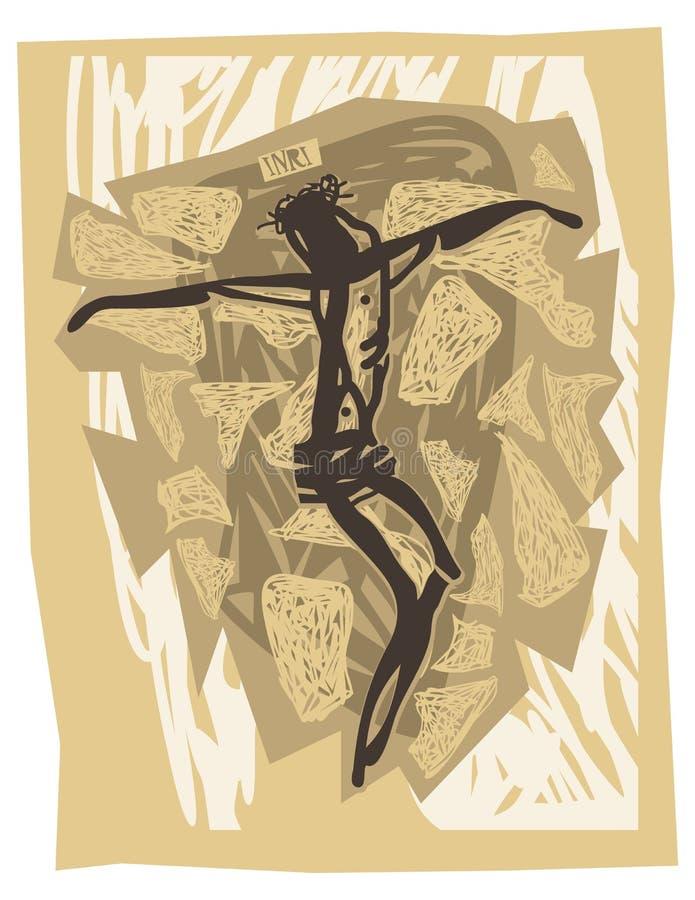 korsfäste jesus vektor illustrationer