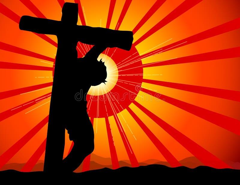 korsfäste jesus royaltyfri illustrationer