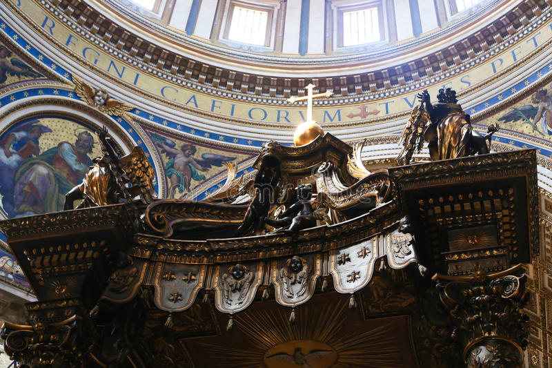 Korsfästelse av St Peter Painting - Rome royaltyfri foto