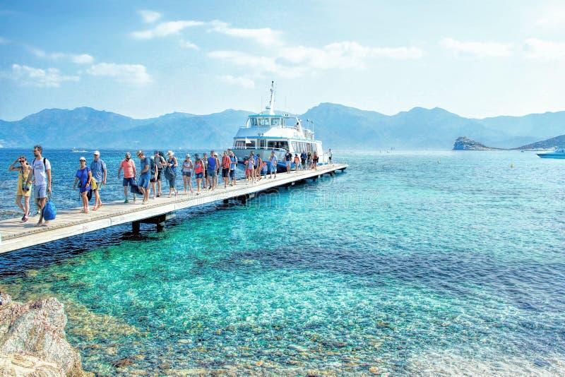 Korsika - ön av skönhet, Frankrike arkivbilder