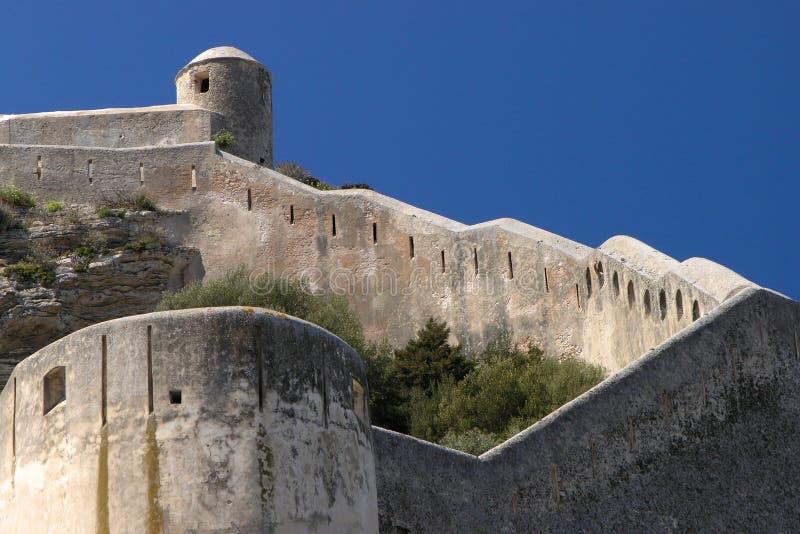 Korsika bonifacio Zitadelle lizenzfreies stockbild