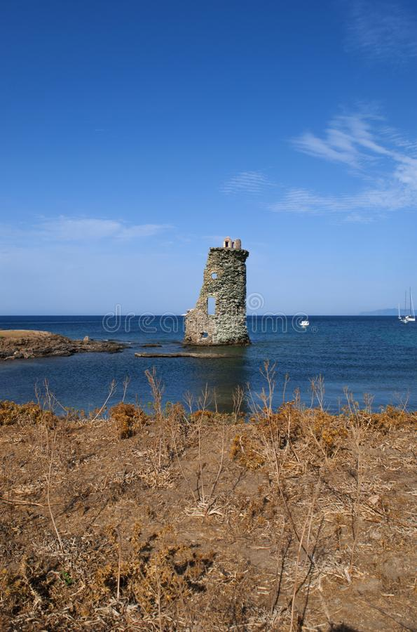 Korsika Corse, Cap Corse, övreCorse, Frankrike, Europa, ö arkivbilder