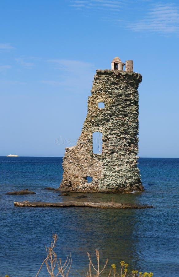 Korsika Corse, Cap Corse, övreCorse, Frankrike, Europa, ö arkivfoton