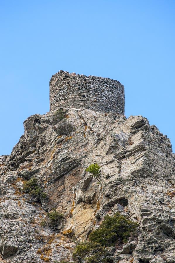 Korsika Corse, Cap Corse, övreCorse, Frankrike, Europa, ö arkivfoto