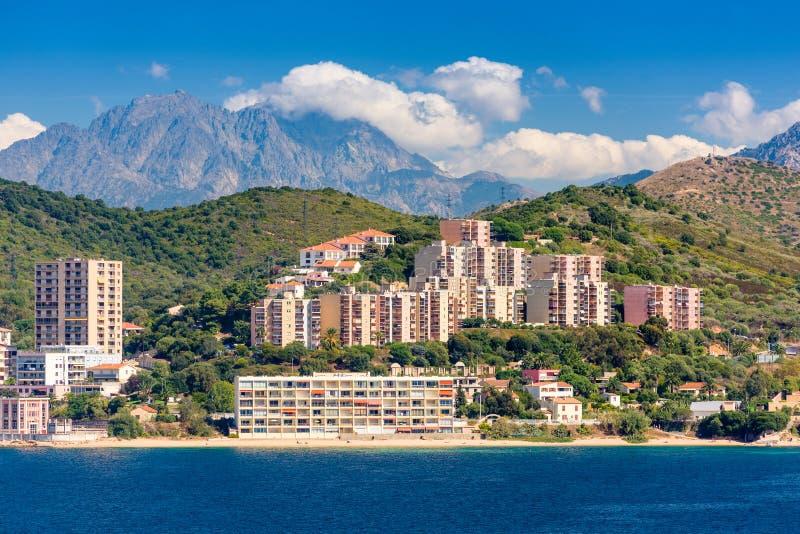 Korsika Frankrike kust royaltyfria bilder