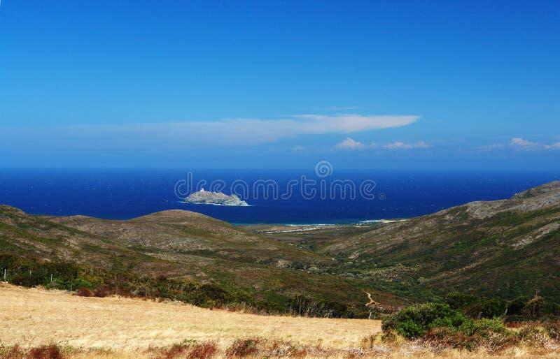 Korsika-Insel barcaggio lizenzfreie stockbilder