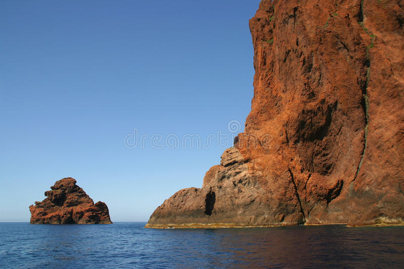 Korsika Scandola2 stockbilder