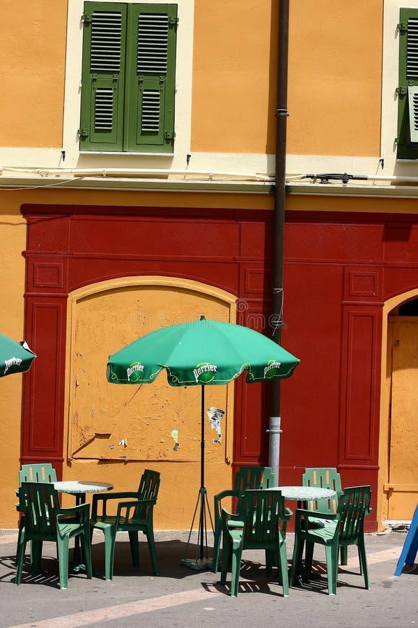 Korsische Häuser und Gebäude stockbild