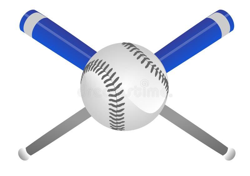 Korsning baseballslagträn stock illustrationer