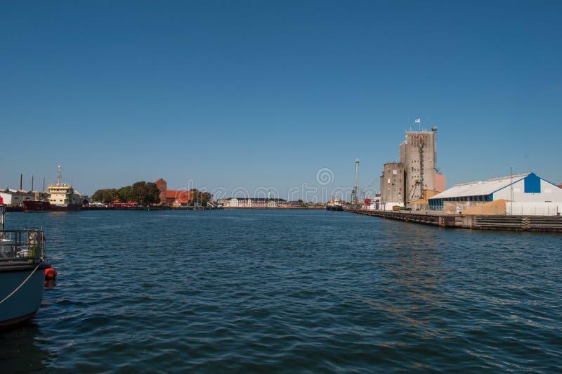 Korsoer hamn i Danmark royaltyfri fotografi