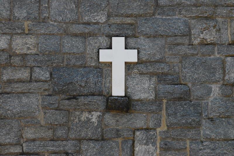 korsstenvägg royaltyfri foto