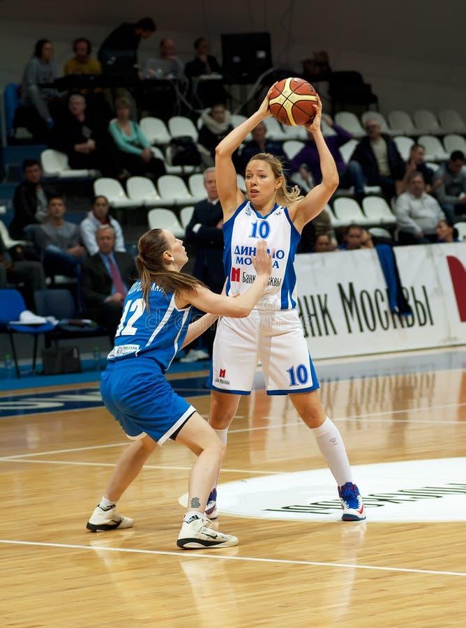 Korstin I. (10) and Kolosovskaya K. (12) stock image