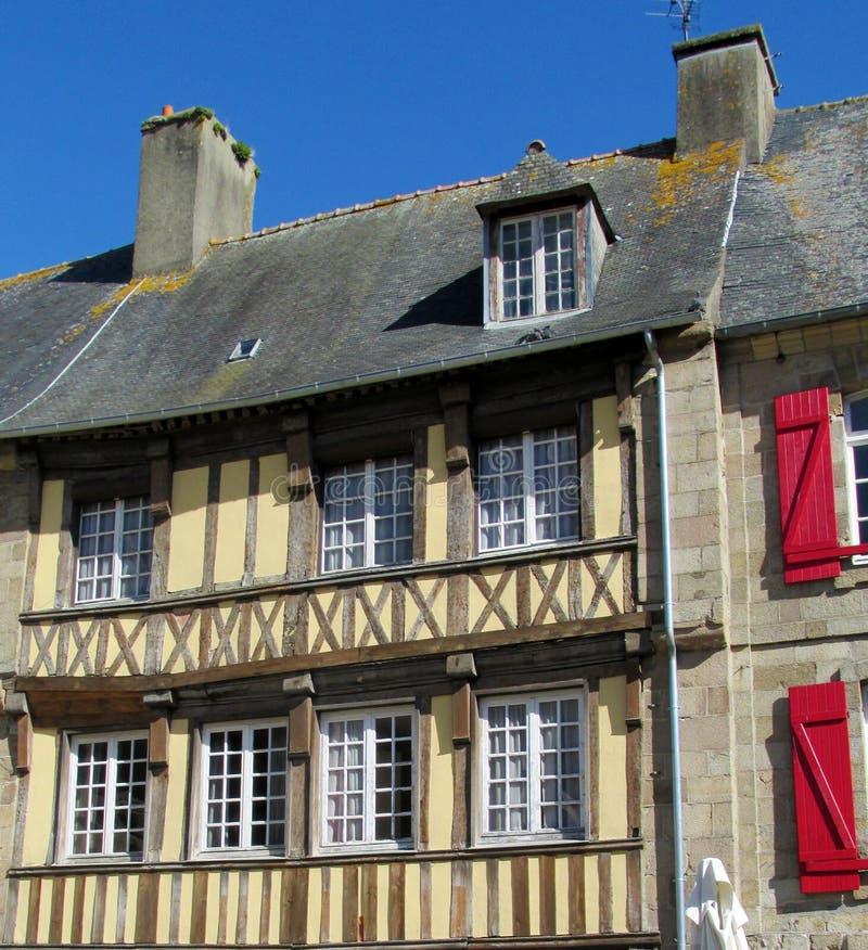 Korsvirkes- historiskt hus i Frankrike arkivfoto