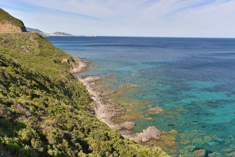 Korsykański brzeg Balagne region obraz stock