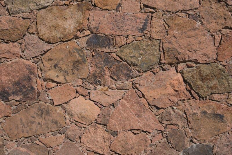 Korsykański kamieniarstwo czerwonawy powulkaniczny kamień zdjęcie stock