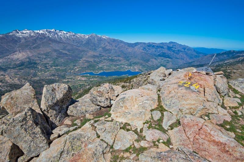 Korsykańskie wysokie góry obrazy royalty free