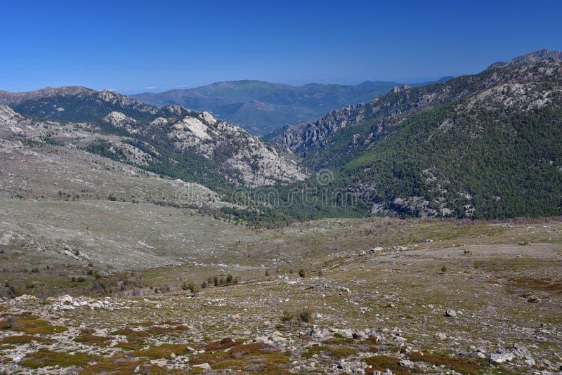 Korsykańskie wysokie góry fotografia royalty free