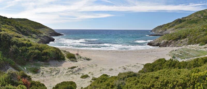 Korsykanina wybrzeże w nakrętce Corse obrazy stock