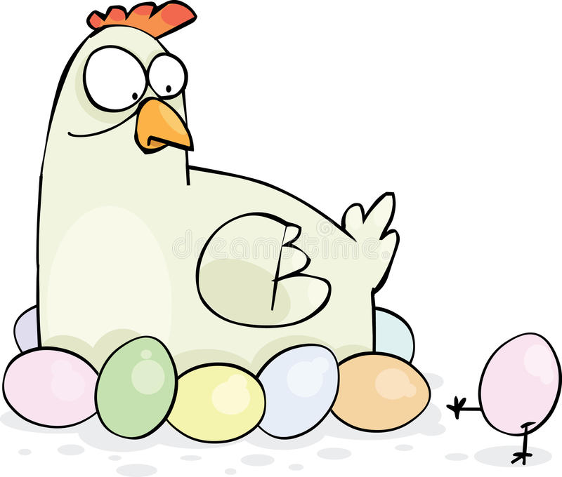 kort easter vektor illustrationer