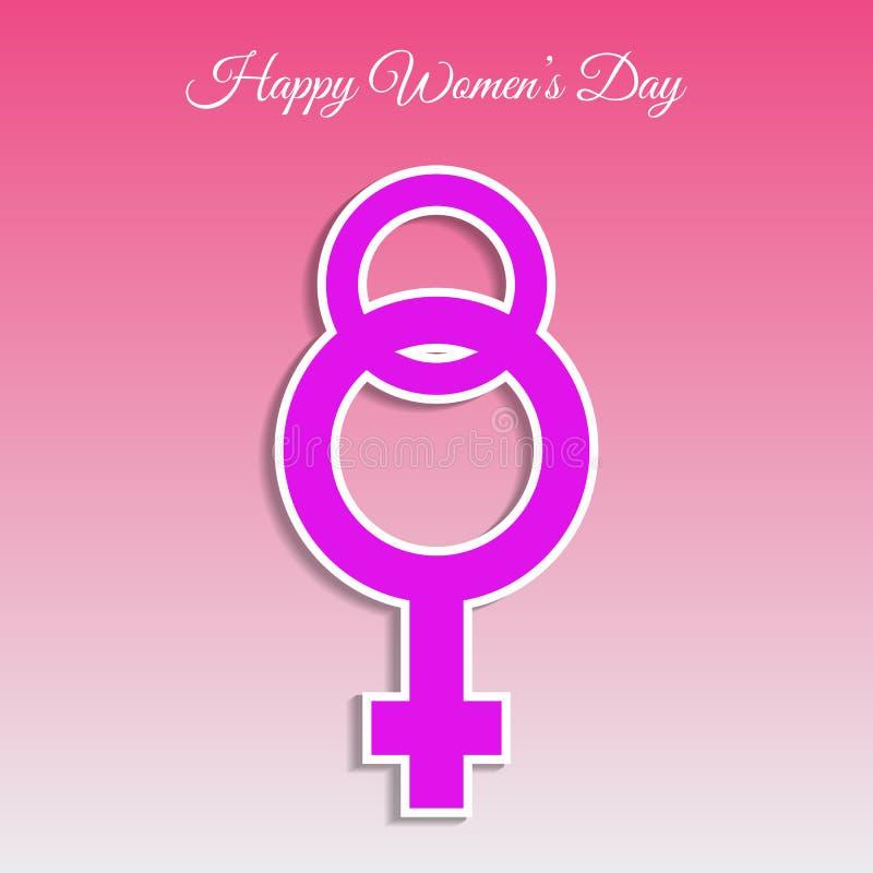 Kort eps 10 för kvinnadag8 marsch royaltyfri illustrationer