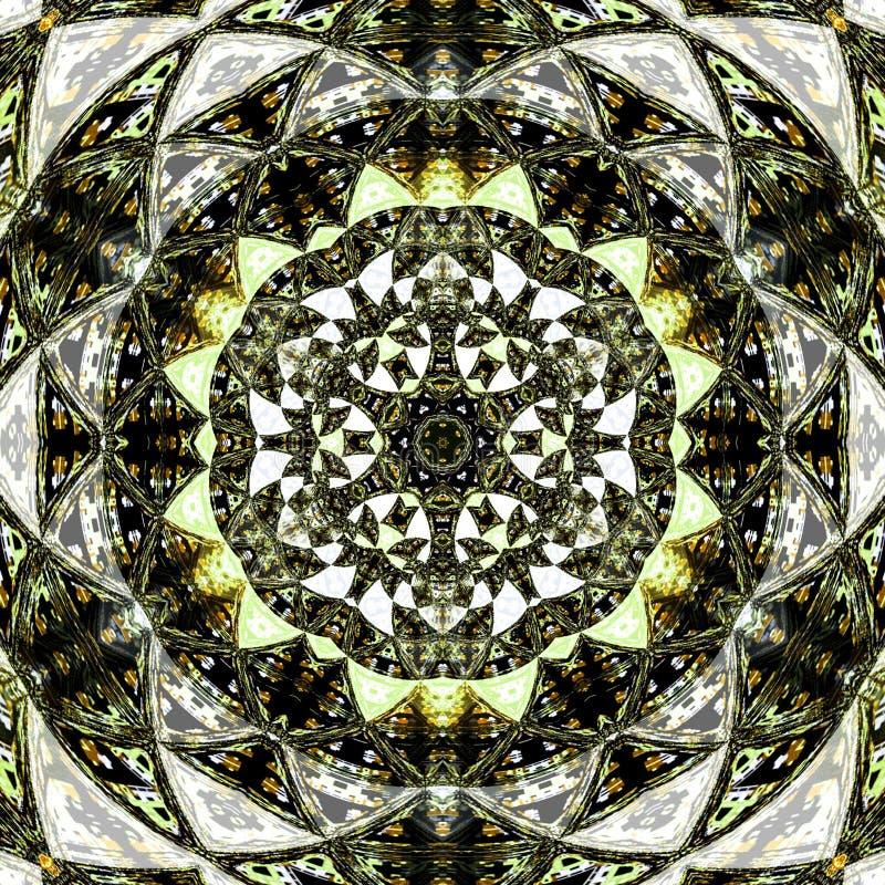 Kort för bakgrund för mandala för blom- prydnad för choklad royaltyfri illustrationer