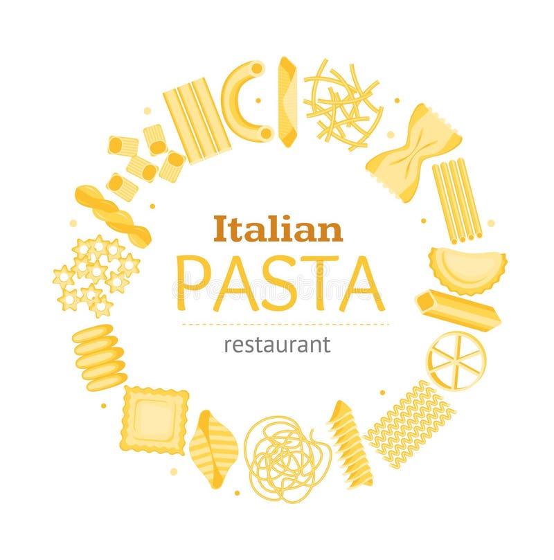 Kort för baner för mall för pastarundadesign vektor stock illustrationer