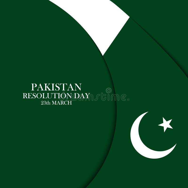 Kort för beröm för marsch för Pakistan upplösningsdag 23 stock illustrationer