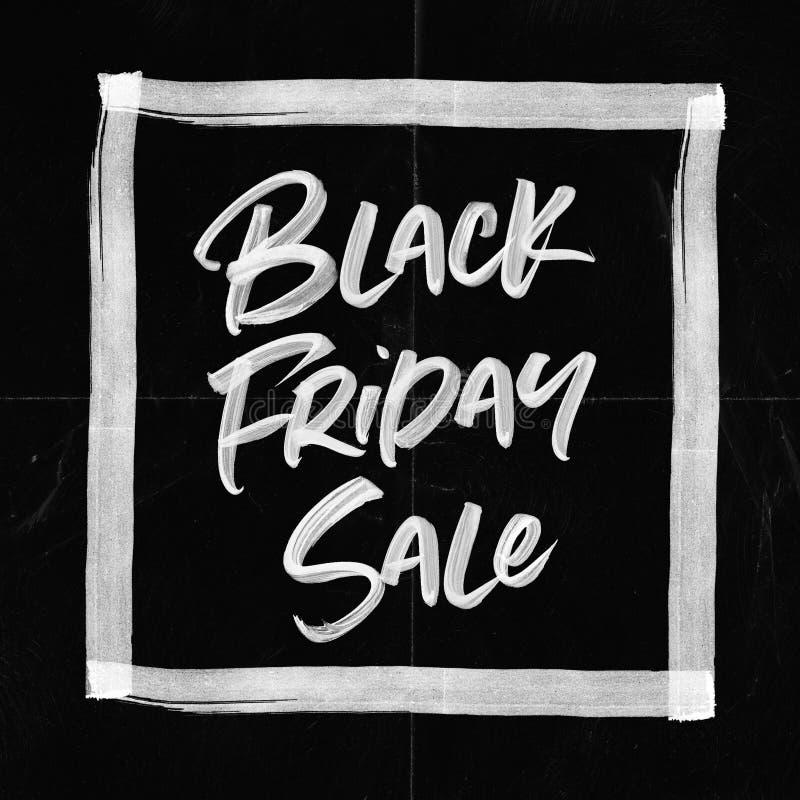 Kort för Black Friday Sale pappersveck royaltyfri fotografi