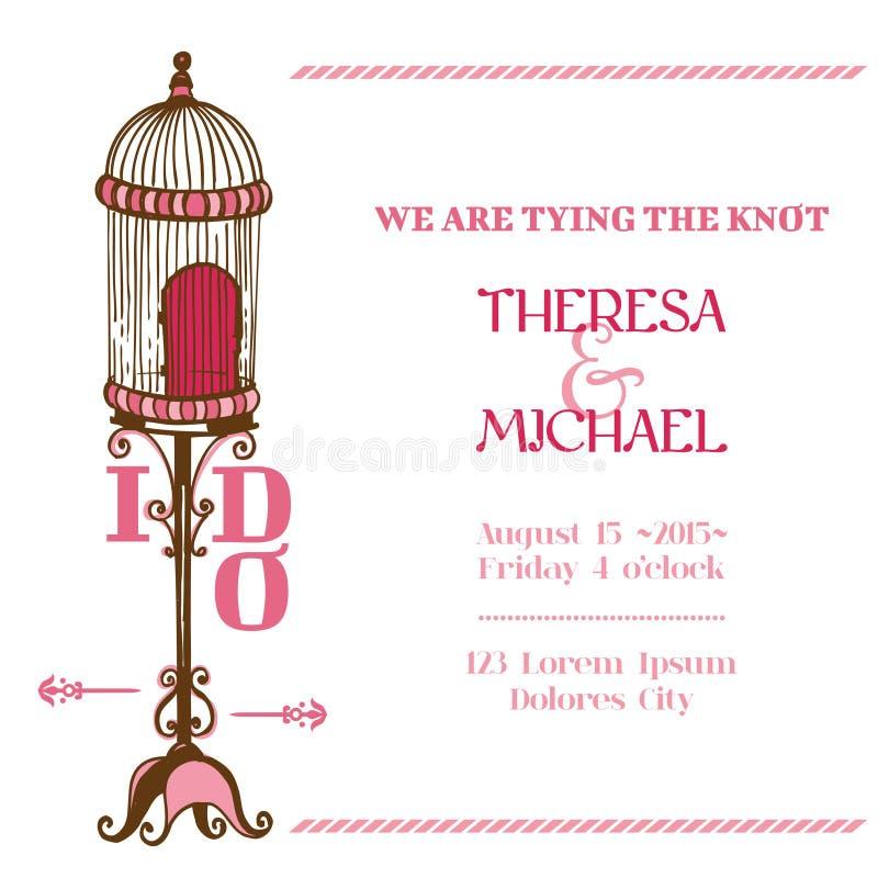 Kort för brölloptappninginbjudan stock illustrationer