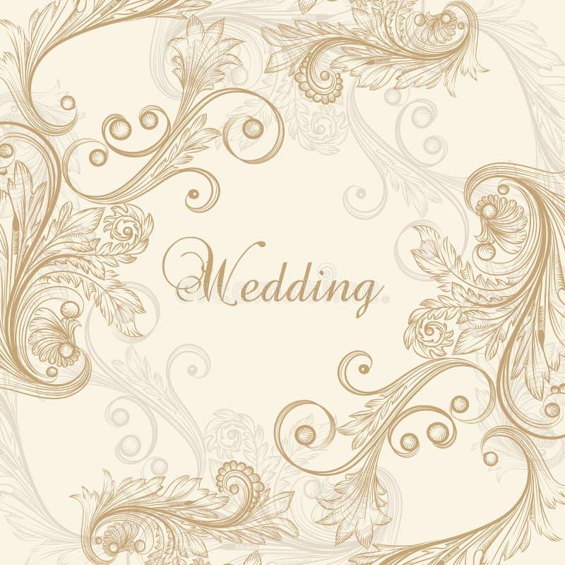 Kort för bröllopvektorhälsning stock illustrationer