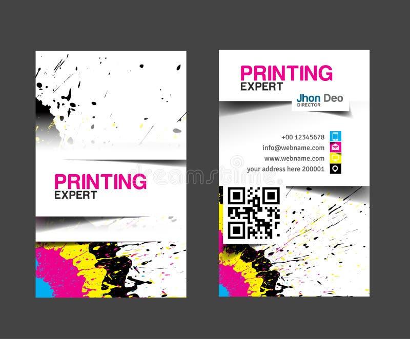Kort för Cmyk printingaffär stock illustrationer