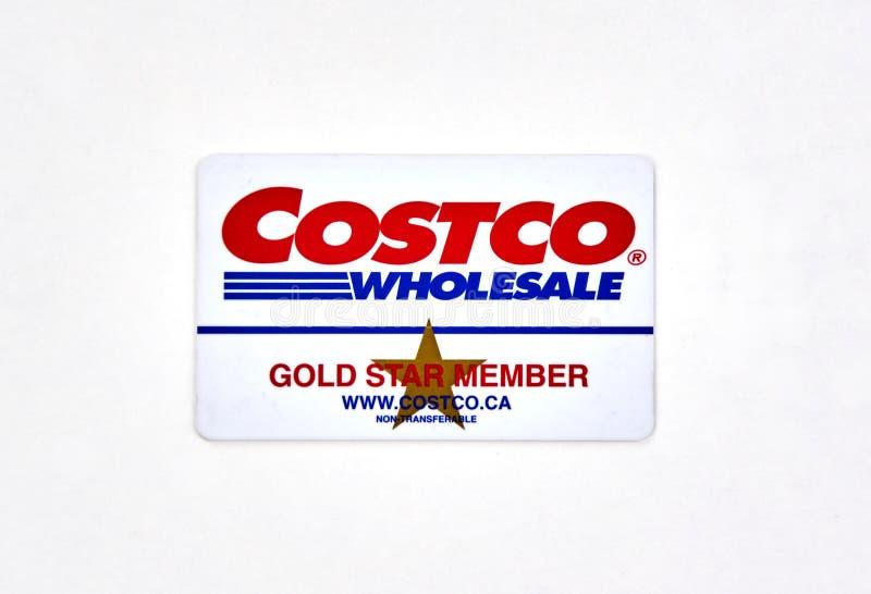 Kort för Costco grossistKanada medlem arkivbilder
