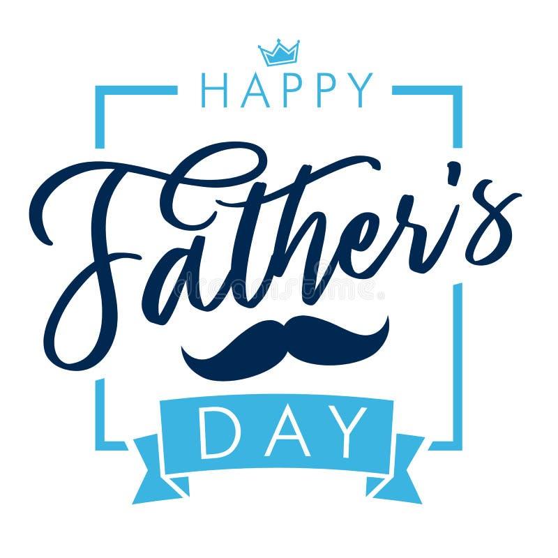 Kort för hälsning för bokstäver för lycklig dag för fader` s elegant vektor illustrationer