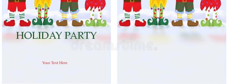Kort för inbjudan för julparti vektor illustrationer