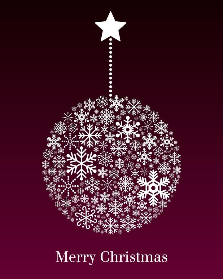 Kort för julbollhälsning royaltyfri illustrationer