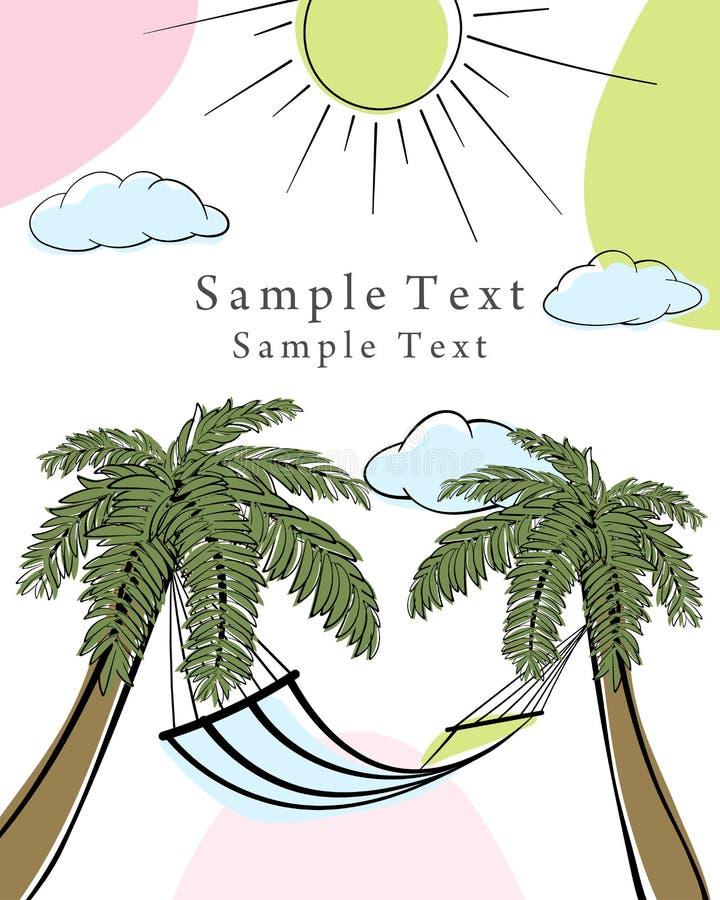 Kort för klotter för sommartid royaltyfri illustrationer