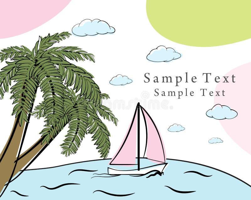 Kort för klotter för sommartid stock illustrationer