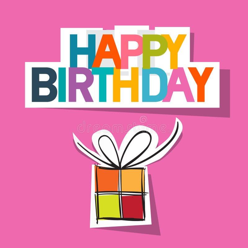 Kort för lycklig födelsedag vektor illustrationer