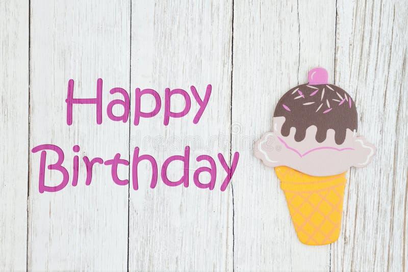 Kort för lycklig födelsedag med glass fotografering för bildbyråer