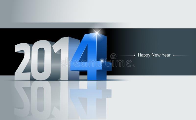 2014 kort för lyckligt nytt år stock illustrationer