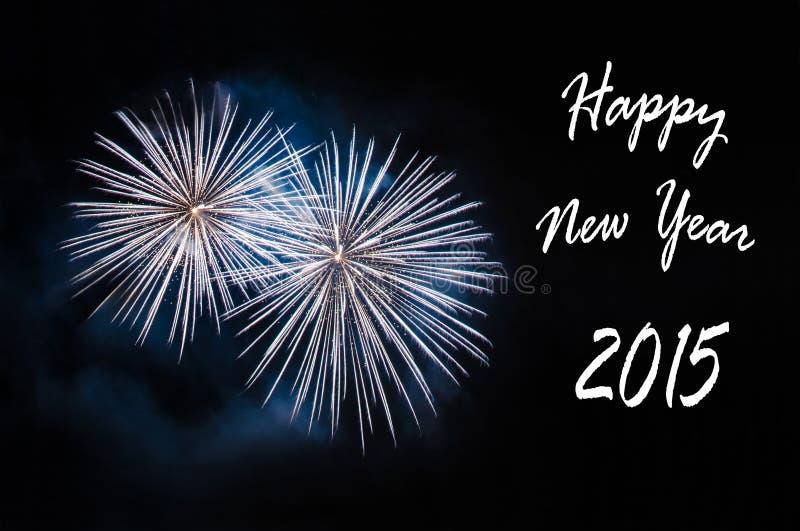 Kort för lyckligt nytt år 2015 arkivfoto