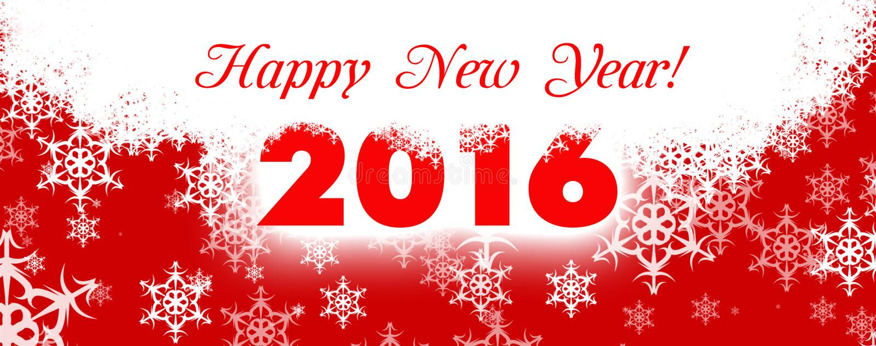 Kort 2016 för lyckligt nytt år stock illustrationer