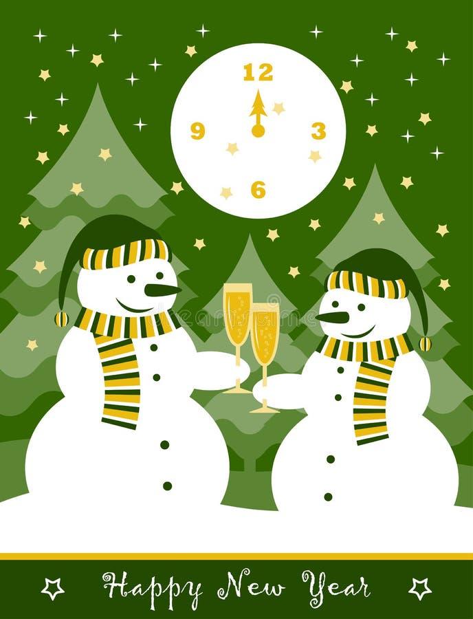 Kort för nytt år royaltyfri illustrationer
