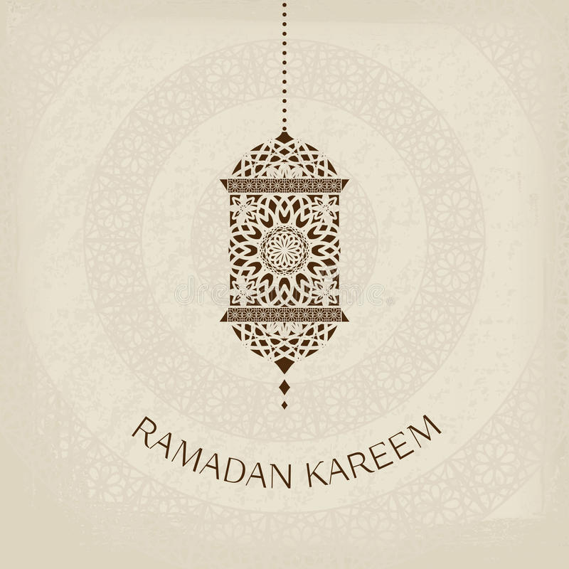 Kort för Ramadan Kareem vektorhälsning vektor illustrationer