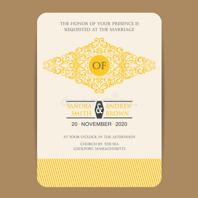 Kort för tappningbröllopinbjudan stock illustrationer