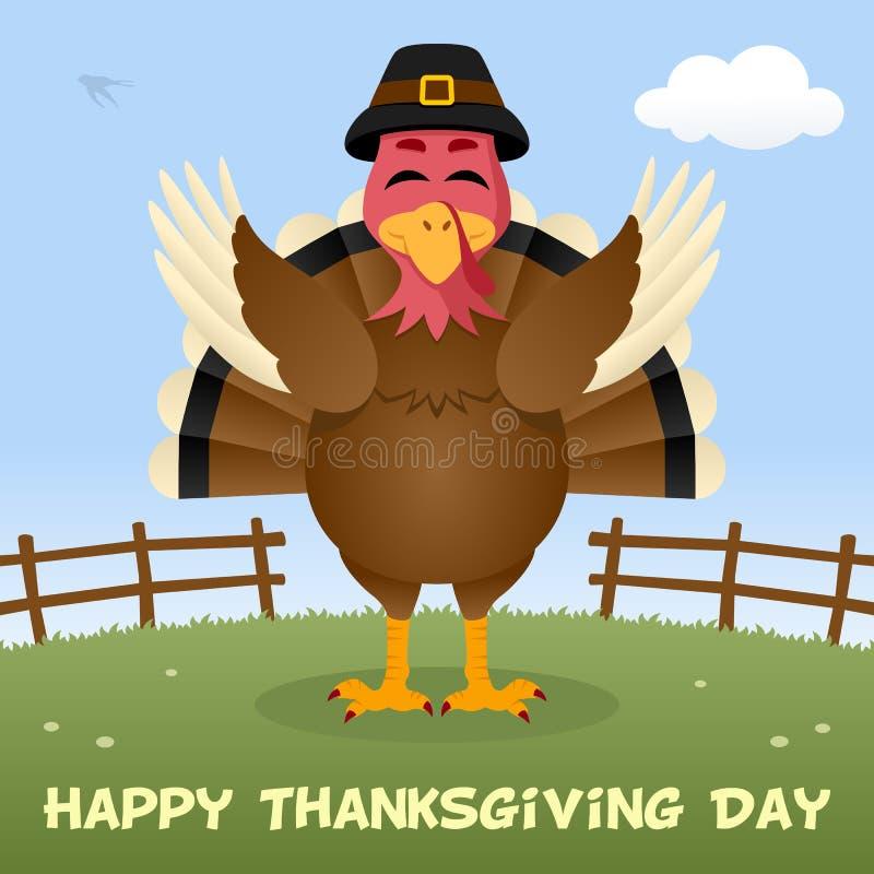 Kort för Turkiet lyckligt tacksägelsedag stock illustrationer