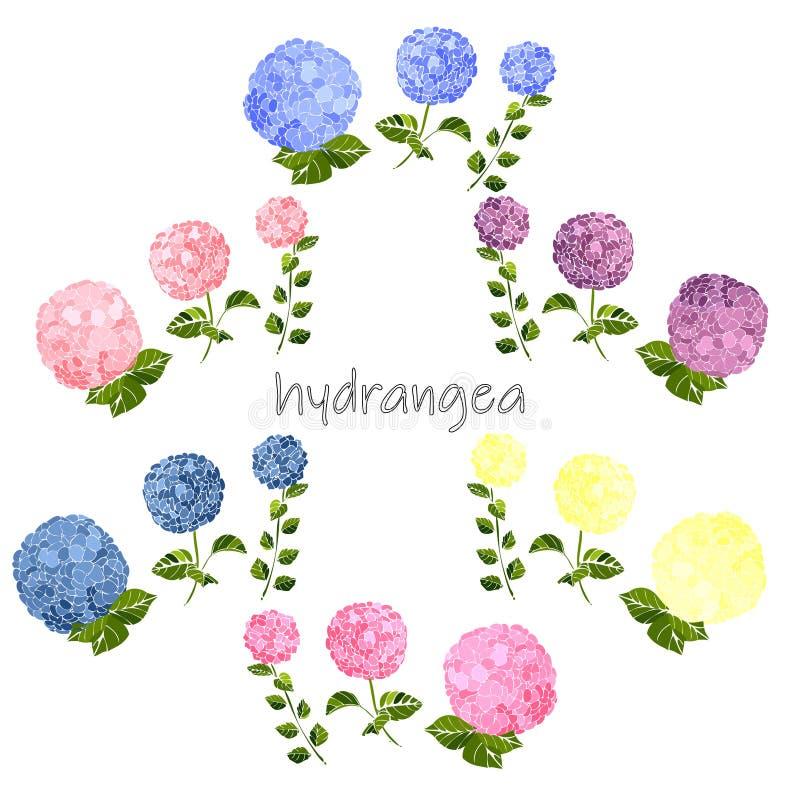 Kort f?r h?lsning f?r sommartappning blom- royaltyfri illustrationer