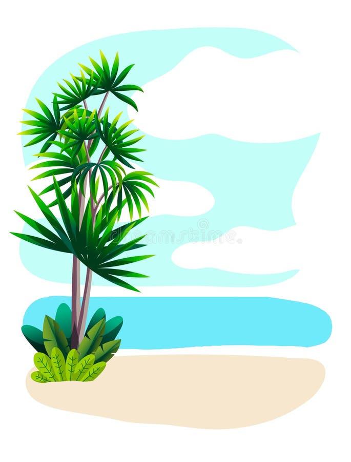 Kort från havet sommar vilar färgillustrationen vektor illustrationer