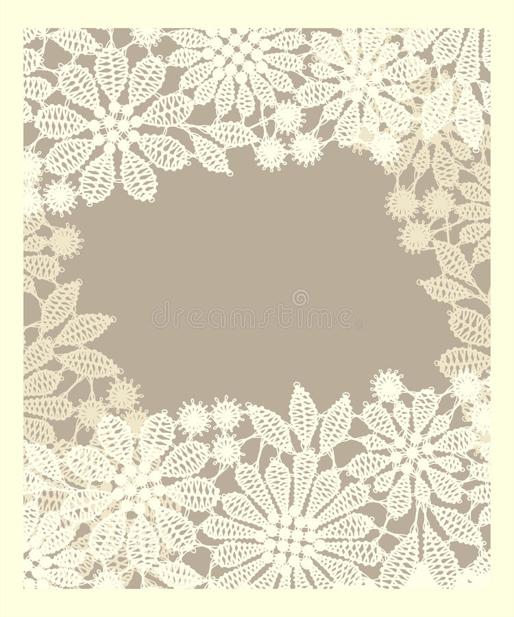 Kort lace vektor illustrationer