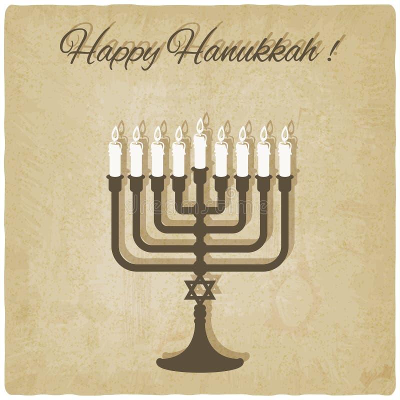 kort lyckliga hanukkah stock illustrationer